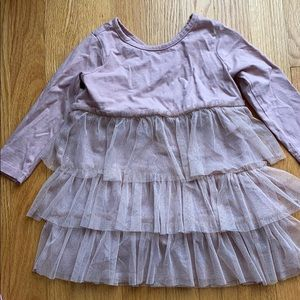 Dress with sparkle ruffles